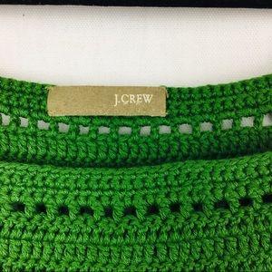 J. Crew Tops - J. Crew Green crochet crop tank top pockets small